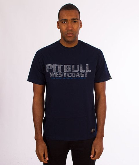 Pit Bull West Coast-Fighter T-Shirt Dark Navy