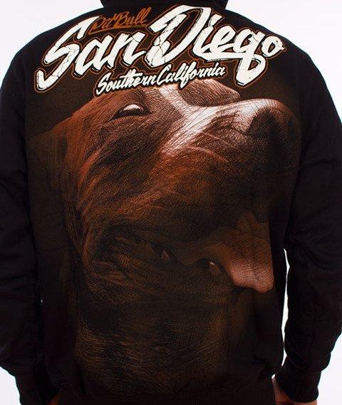 Pit Bull West Coast-San Diego Dog Hoodie Bluza Kaptur Czarny