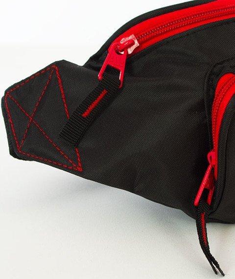 Pit Bull West Coast-Saszetka Nerka Logo Czarno-czerwona