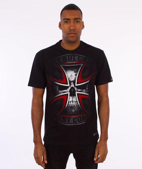 Pit Bull West Coast-Skull Cross T-Shirt Czarny