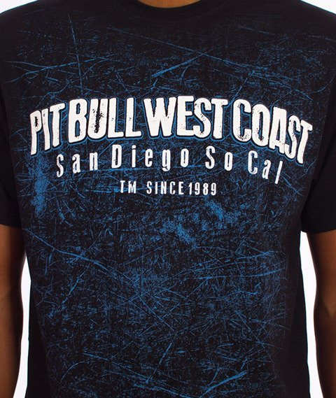 Pit Bull West Coast-Skull Dog T-Shirt Czarny