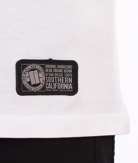 Pit Bull West Coast-Stamp T-shirt Biały