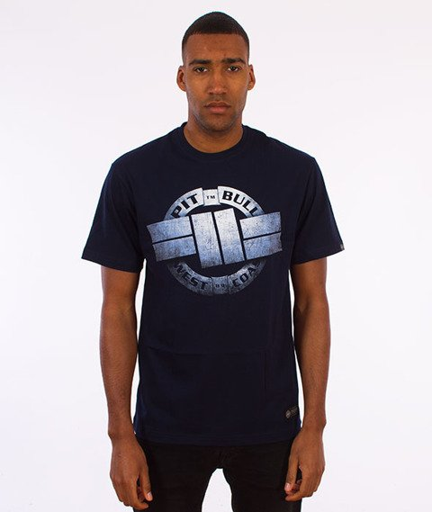 Pit Bull West Coast-Steel Logo T-Shirt Dark Navy