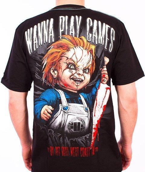 Pit Bull West Coast-Wanna Play Games T-Shirt Black