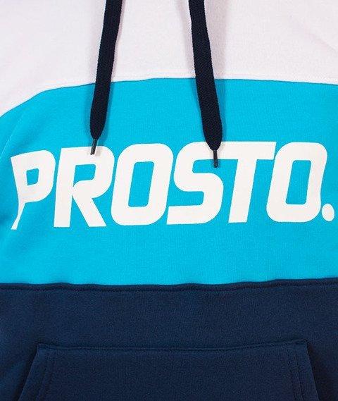 Prosto-New Tonal Bluza Kaptur Granatowa/Niebieska/Biała