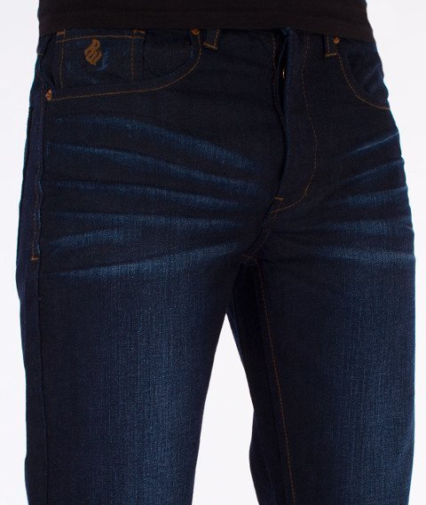 RocaWear-Dark Night Blue Relaxed Fit Spodnie Jeans R00J9911E 858