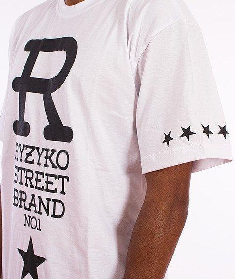 Ryzyko-Big R T-shirt Biały