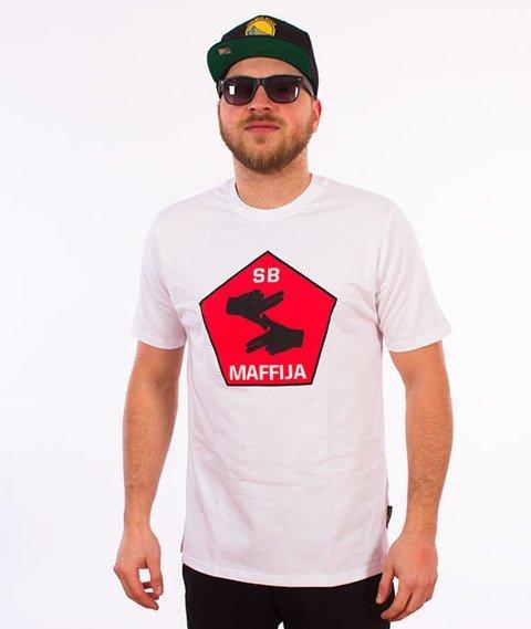 SB Maffija-Big Hands T-Shirt Biały