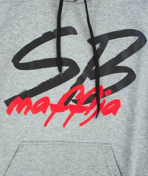 SB Maffija-Big Logo Bluza Kaptur Szara