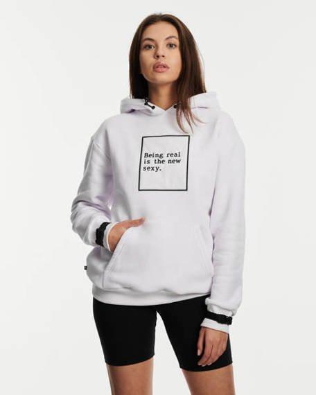 SSG Girls BEING REAL Bluza Kangurka Biały