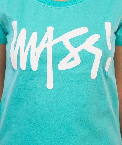 Saint Mass-Signature T-shirt Damski Turkusowy