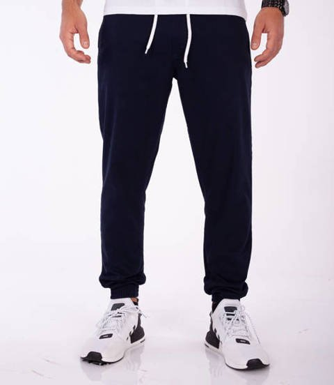 Smoke Story CLASSIC Jogger Slim Spodnie Granatowe