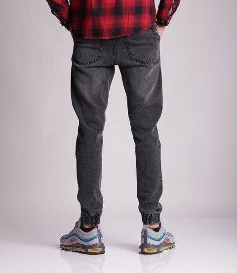 Smoke Story DOUBLE POCKET Jogger Slim Jeans Czarny Wycierany