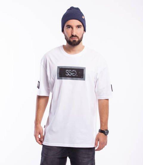 Smoke Story INDUSTRIAL FRAME T-Shirt Oversize Biały