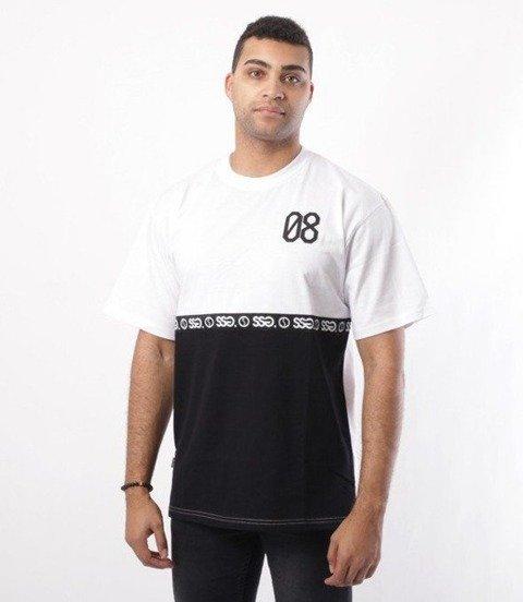 SmokeStory-08 Line T-Shirt Biały/Czarny