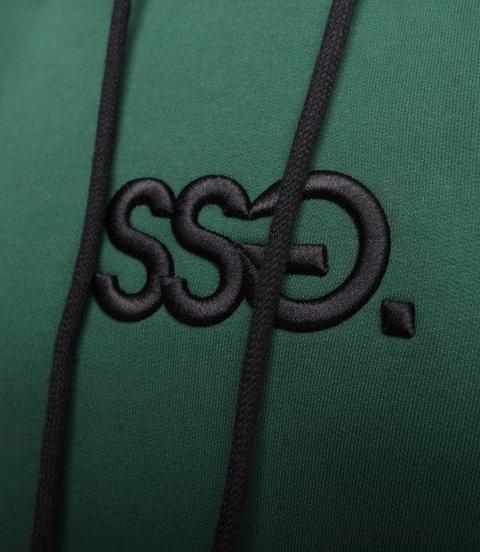 SmokeStory-3D Haft SSG Medium Bluza Kaptur Zielony