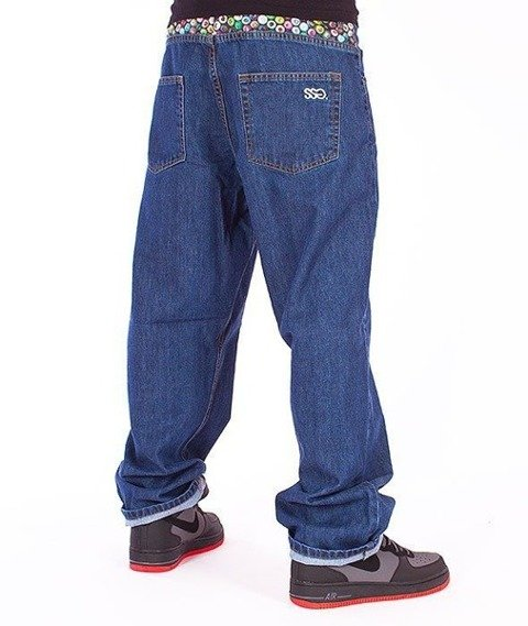 SmokeStory-Cans Baggy Jeans Medium Blue