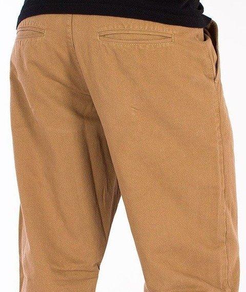 SmokeStory-Chino Regular Spodnie Beżowe