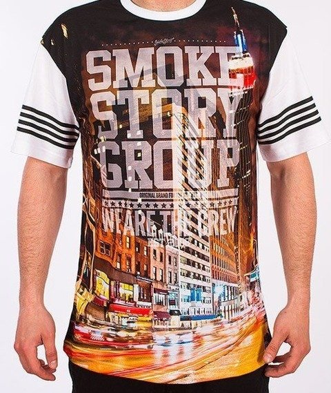 SmokeStory-City Triangle T-Shirt Biały