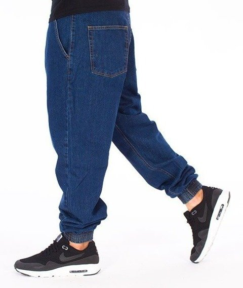 SmokeStory-Classic Jogger Jeans Regular Spodnie Medium Blue