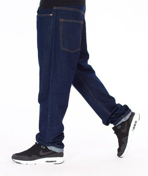 SmokeStory-Classic Slim Jeans Spodnie Dark Blue