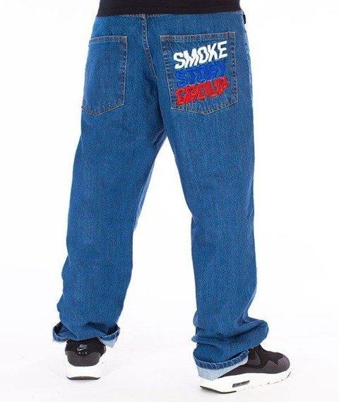 SmokeStory-Colors Regular Jeans Spodnie Light Blue