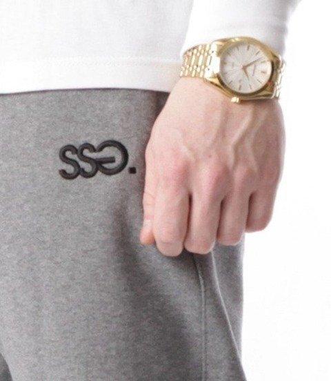 SmokeStory-Cross Lines Spodnie Slim Ciemny Szary