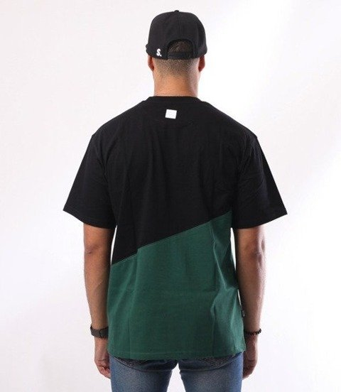 SmokeStory-Cut Front Back T-Shirt Czarny/Zieleń