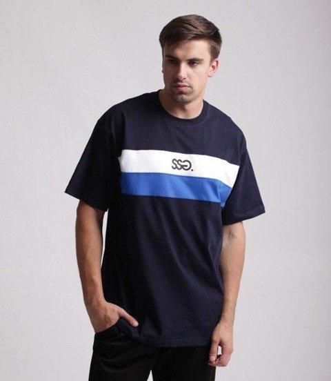 SmokeStory-Double Lines T-Shirt Granatowy