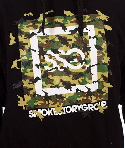 SmokeStory-Fly Moro Bluza Kaptur Czarny