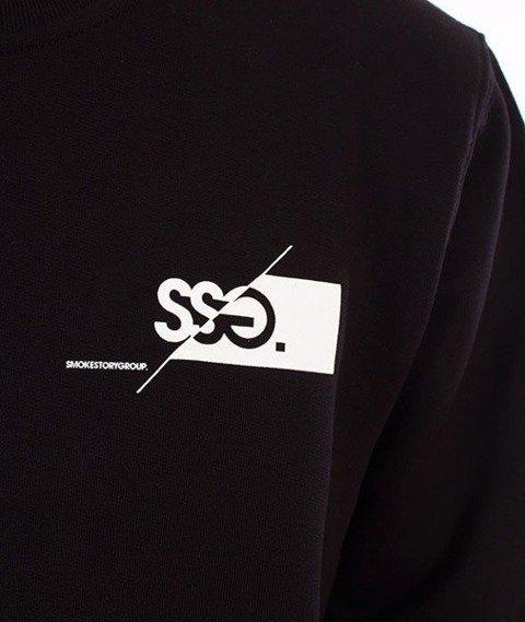 SmokeStory-Front Back Cut Logo Crewneck Bluza Czarny