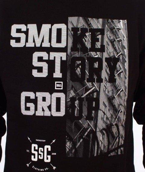 SmokeStory-Half Block Bluza Czarna