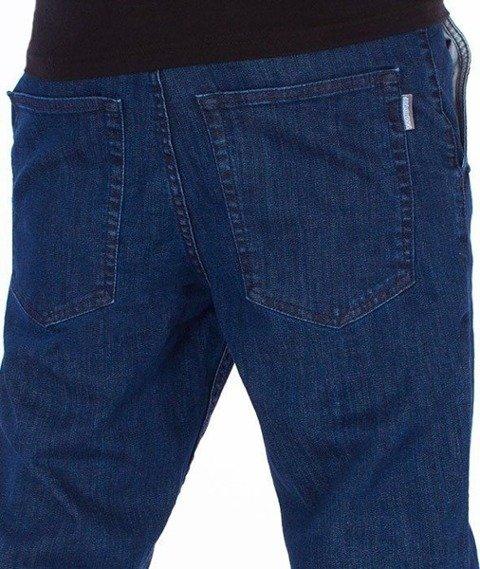 SmokeStory-Jeans Stretch Skinny Guzik Spodnie Medium