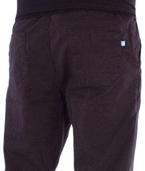 SmokeStory-Jeans Stretch Straight Fit Guma Spodnie Tkanina Czarne