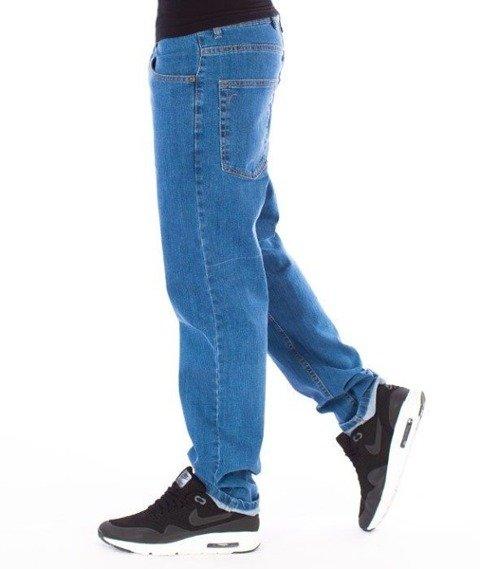 SmokeStory-Jeansy Slim Big Outline Spodnie Light