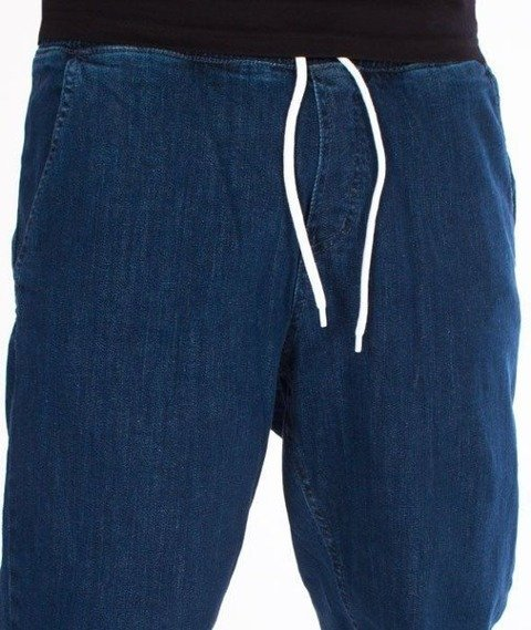 SmokeStory-Jogger Jeans Regular Guma Medium Blue