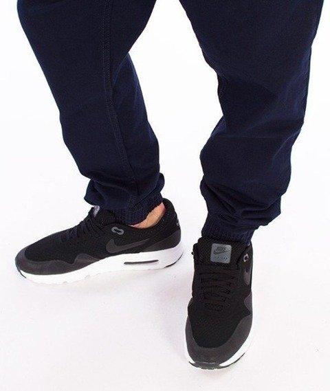 SmokeStory-Jogger Slim Klasyk Spodnie Granatowe