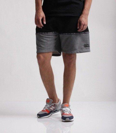 SmokeStory-Light Double Krótkie Spodnie Bawełniane Czarno Szare