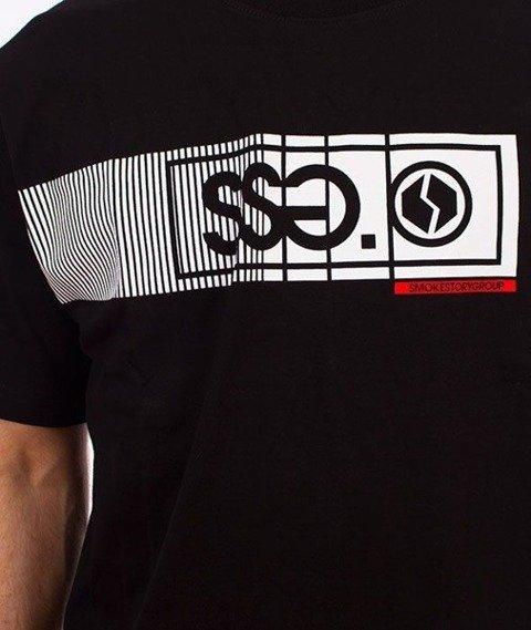SmokeStory-Lines SSG T-Shirt Czarny