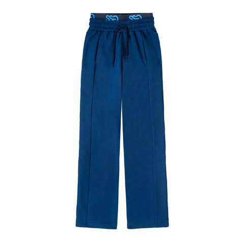 SmokeStory-Logo Loose Pants Spodnie Dresowe Dasmkie Granatowe