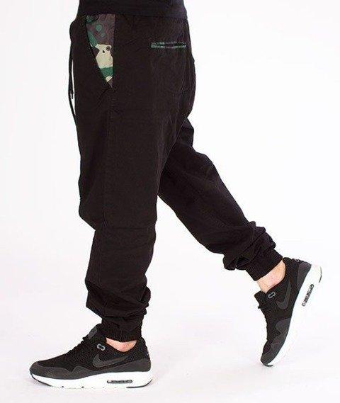 SmokeStory-Moro Part Jogger Slim Spodnie Czarne