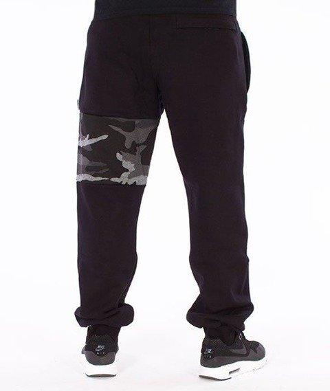 SmokeStory-Moro Part Regular Spodnie Dresowe Czarne/Ciemne Moro