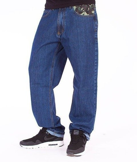 SmokeStory-Moro Wstawka Regular Jeans Medium Blue