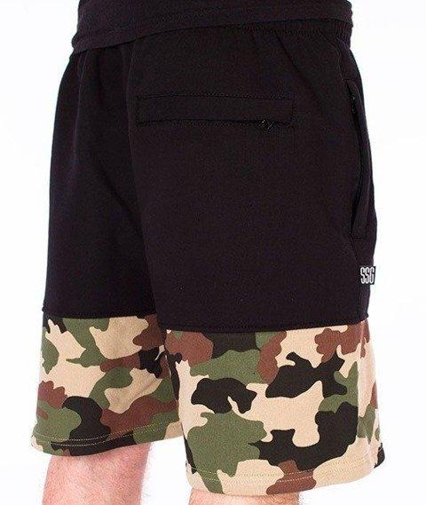SmokeStory-Moro Wstawki Premium Krótkie Spodnie Dresowe Czarne/Camo