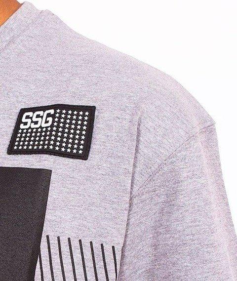 SmokeStory-Multi Lines T-Shirt Szary
