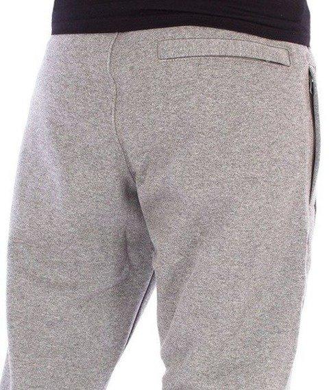 SmokeStory-One Side Small Big Spodnie Dresowe Slim Ciemny Szary