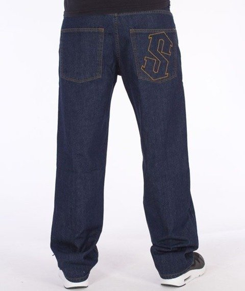 SmokeStory-Outline Regular Jeans Dark Blue