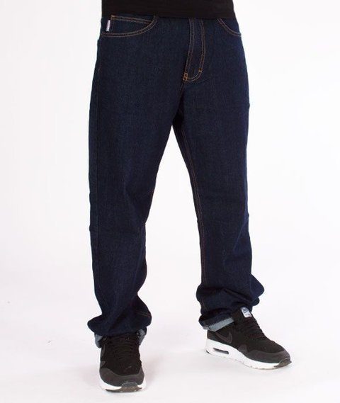 SmokeStory-Outline SSG Regular Jeans Spodnie Dark Blue