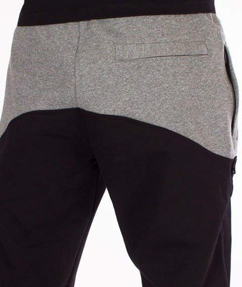 SmokeStory-Premium Front Back Regular Spodnie Dresowe Czarne