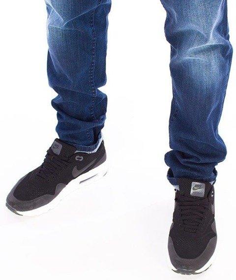 SmokeStory-Premium Jeans Stretch Skinny z Gumą Spodnie Na Górze Medium Przecierane